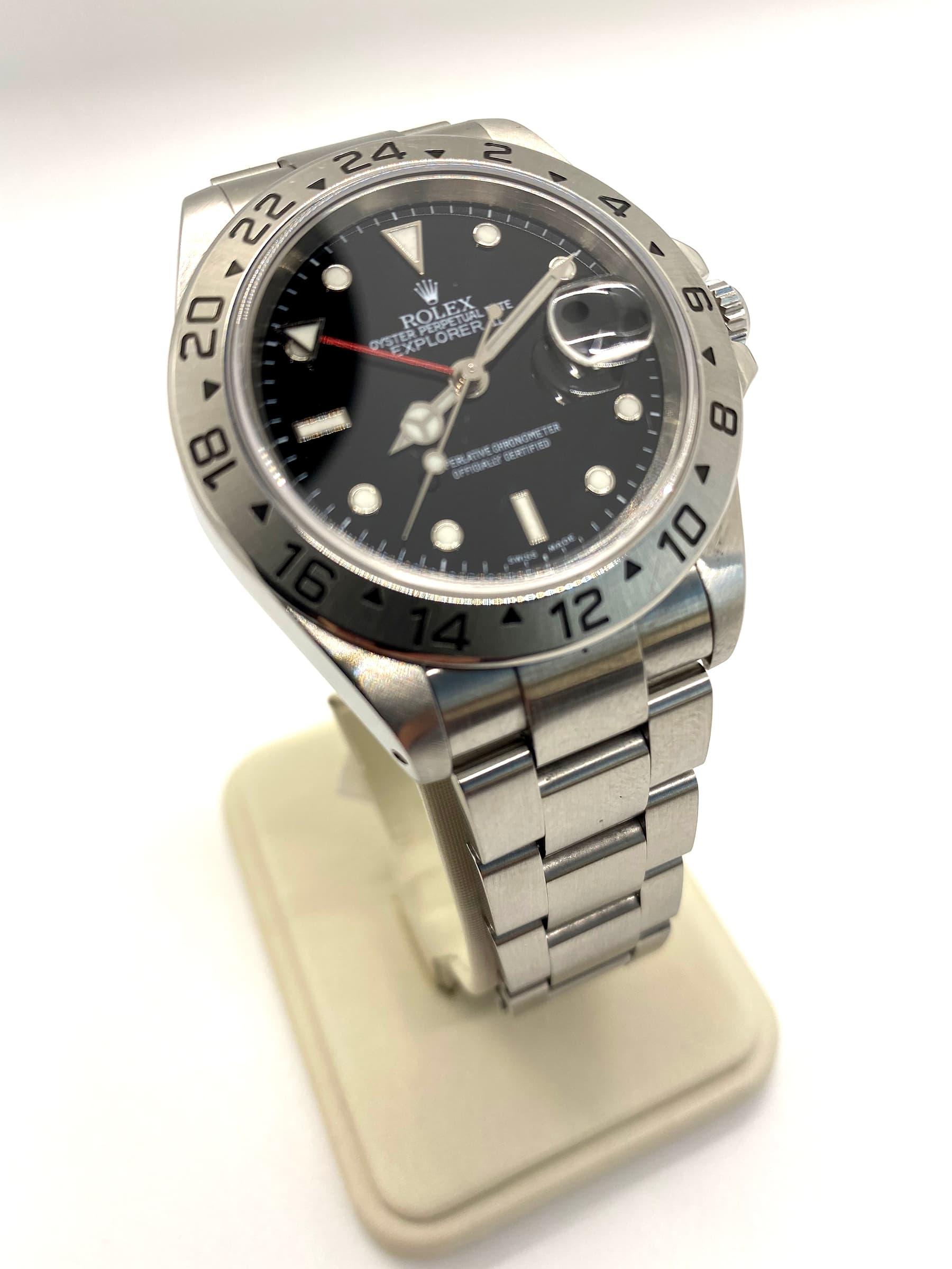 Explorer II 16570 Men's Rolex Watch with Papers Only