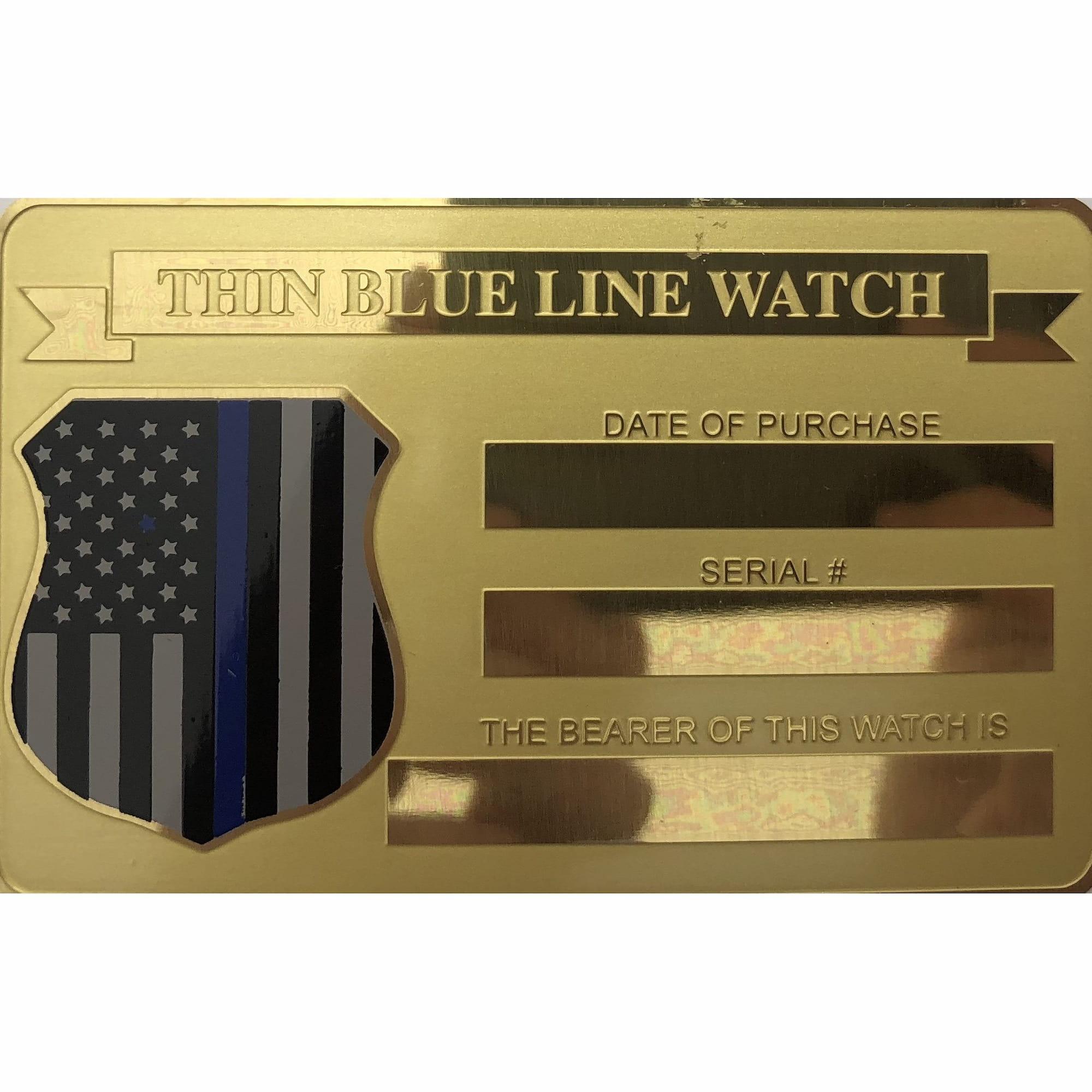 Men's Citizen Thin Blue Line Watch