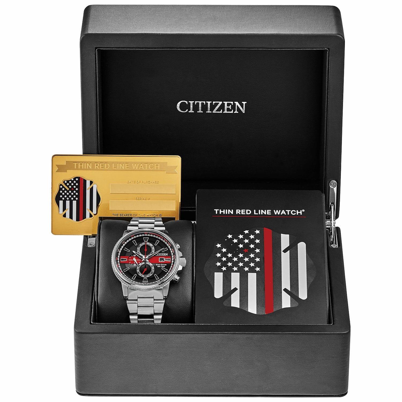 Men's Citizen Thin Red Line Watch