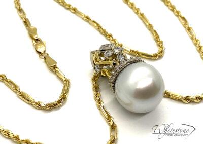 Pearl & Diamond Pendant Custom Jewelry Design