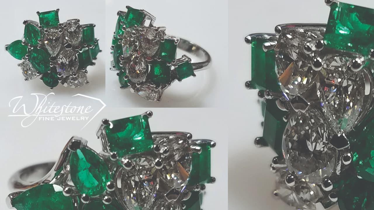 Emerald and Diamond Ring Austin Cedar Park